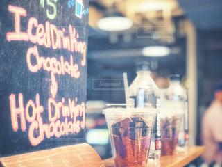 飲み物,ショップ,ニューヨーク,文字,屋内,看板,水,アメリカ,ストロー,オシャレ,チョコレート,カップ,可愛い,黒板,NY,ドリンク,手書き,ライフスタイル,米国,字,ボード,フォトジェニック,ホットドリンク,チョコレートドリンク,チェルシーピア,iced drinking,hot drinking