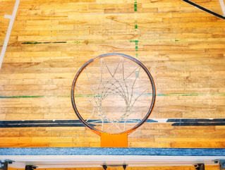 真上から見たバスケットゴールの写真・画像素材[2216059]
