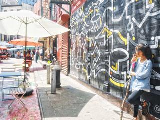 NYチャイナタウンのウォールアートの写真・画像素材[2278442]