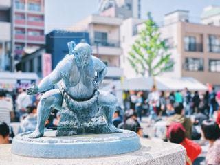 両国のお相撲さん像の写真・画像素材[2394867]