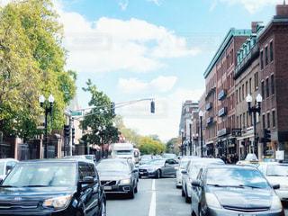 渋滞と空模様の写真・画像素材[2475851]