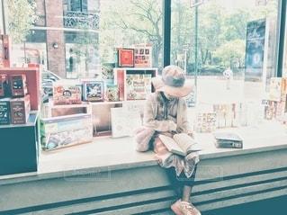 お気に入りの本屋さんでの写真・画像素材[2629429]