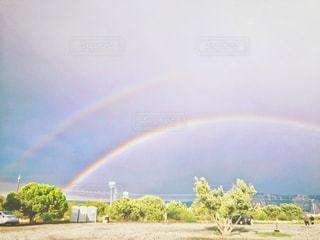 二重虹の写真・画像素材[2661433]
