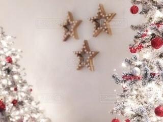 星とクリスマスツリーの写真・画像素材[4028224]