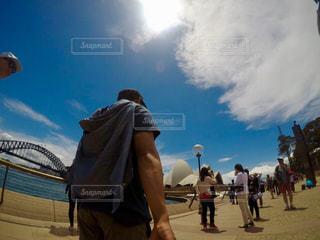 後ろ姿,観光,人物,背中,人,後姿,オーストラリア,シドニー