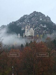 背景の山と木の写真・画像素材[1205242]