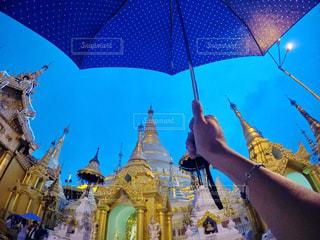 雨,傘,旅行,旅,ミャンマー,梅雨,金,Travel,パゴダ