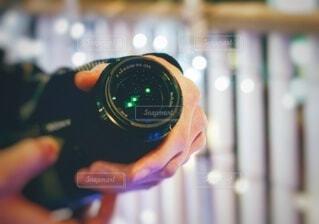 レンズにイルミネーションの写真・画像素材[4007872]