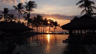 夕日,ロマンティック,バリ島