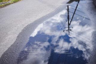 自然,空,春,緑,きれい,水たまり,反射,雨上がり,梅雨,草木