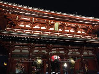 夜の浅草寺の写真・画像素材[1199829]
