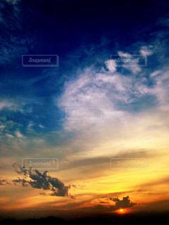 空,夕日,太陽,雲,夕暮れ
