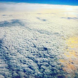 上から見るうろこ雲 - No.1106053