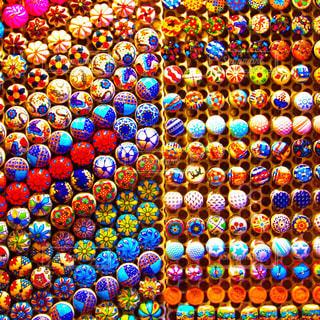 スペインのお土産屋さんで見つけた水玉の写真・画像素材[1117917]