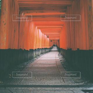 大きなオレンジ色の建物の写真・画像素材[1196705]