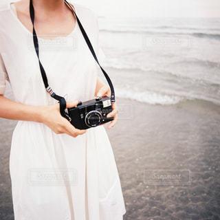 砂浜での写真・画像素材[1829544]