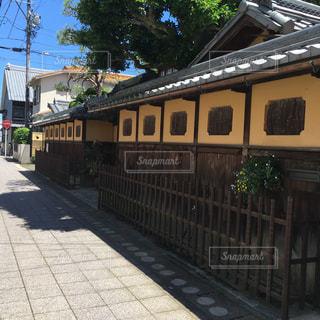 電車は建物の脇に駐車します。の写真・画像素材[1204622]