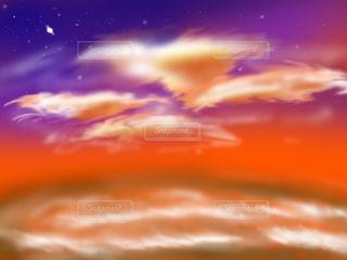 夕焼けと海の写真・画像素材[1269425]