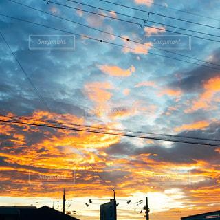 空,夕日,屋外,iphone,夕陽,大阪府