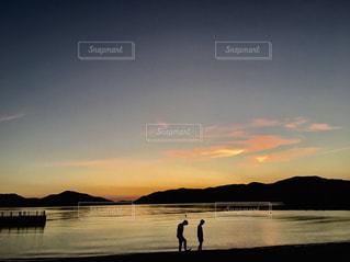 自然,風景,海,空,夏,夕日,夕焼け,鮮やか