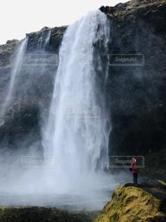 自然,冬,海外,綺麗,滝,癒し,寒い,海外旅行,圧巻,セリャラントスフォス,セリャラントスフォスの滝