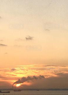 風景,海,空,太陽,雲,船,光,旅行,空港,日の出