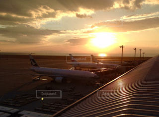 セントレアの綺麗な夕日の写真・画像素材[1286568]