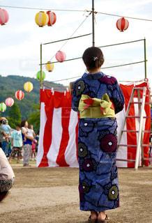 昔ながらの夏祭りの写真・画像素材[1413577]