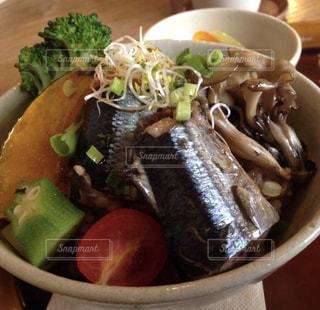 秋刀魚丼の写真・画像素材[1520730]