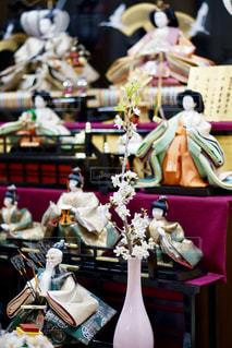 お雛様に飾った桜の写真・画像素材[1862282]