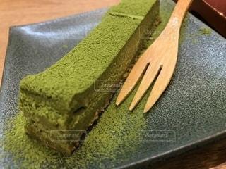 お茶屋さんの抹茶のチーズケーキの写真・画像素材[1882609]