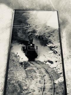 桜のトンネルの中のSLの写真・画像素材[1439769]