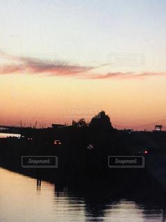 河,秋の空,大河,秋の夕暮れ,秋の日は釣瓶落とし