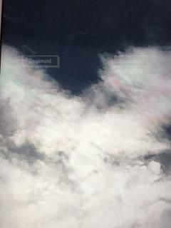 虹色の雲,秋の空に彩雲,吉兆の印