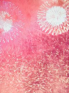 大輪の花,秋の夜空に打ち上がる花火,ピンク弾けて