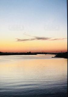 夕暮れ,清流,地球,秋の空,大河