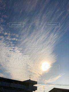 秋空,コラボ,鱗雲,刈り入れまじかの田んぼ,絹層雲