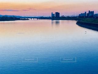 晩秋の球磨川の写真・画像素材[1600768]