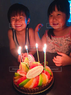 子ども,子供,笑顔,誕生日,双子,にこにこ,二卵性