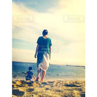 ママ,海デート,お母さんフォト