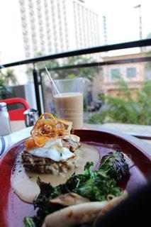 ハワイの朝ご飯の写真・画像素材[1163315]