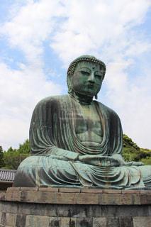 鎌倉の大仏の写真・画像素材[1195575]