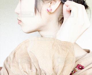 女の子の横顔の写真・画像素材[1160961]