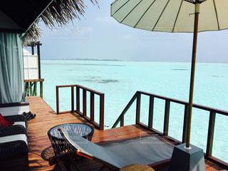 海,空,屋外,南国,景色,デッキ,リゾート,海外旅行,景観,休暇