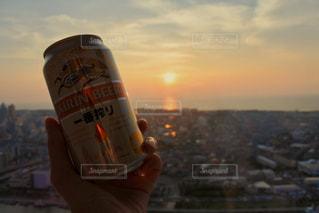 夕日とビール!の写真・画像素材[1311218]