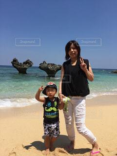 沖縄,子供,仲良し,母,ママ,お母さん