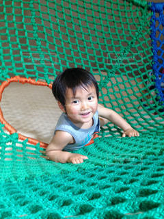 登れて嬉しそうにいい笑顔見せてくれた息子(^^)の写真・画像素材[1168461]