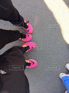 カップル,ピンク,ペア,夫婦,ランニング,マラソン,お揃い,ナイキ,NIKE,ランニングシューズ,シューズ,couple,インスタ映え
