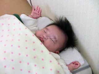 お部屋でのんびりお昼寝の写真・画像素材[1218243]
