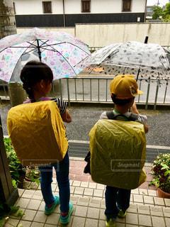 雨,傘,屋外,子供,人物,人,梅雨,ランドセル,登校